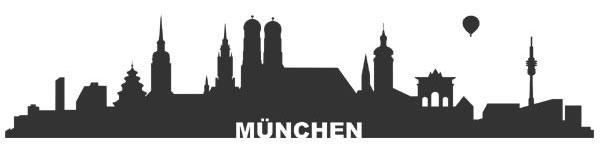 Aufkleber Skyline München