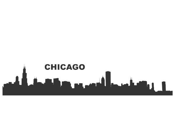 auto aufkleber skyline chicago usa aufkleber autoaufkleber skyline chicago von auto. Black Bedroom Furniture Sets. Home Design Ideas