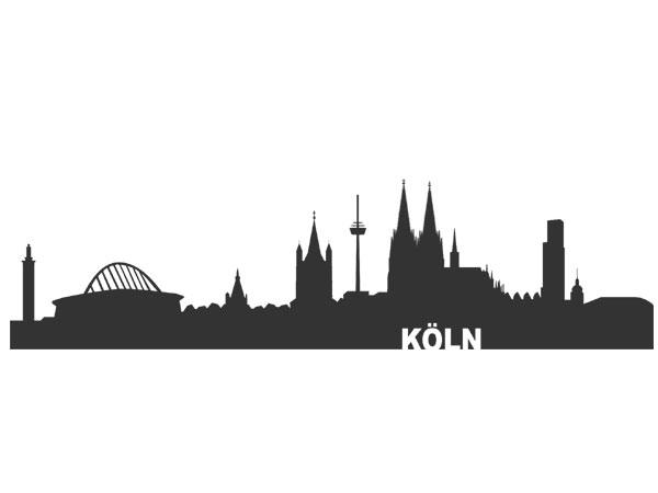 Auto Aufkleber Skyline Köln Aufkleber Autoaufkleber Skyline